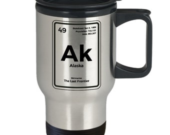 Alaska periodic table the last frontier travel mug