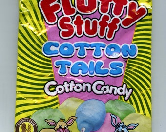 Fluffy Stuff Cotton Tails Easter Candy Wrapper Up-cycled Zippered Bag/Pouch