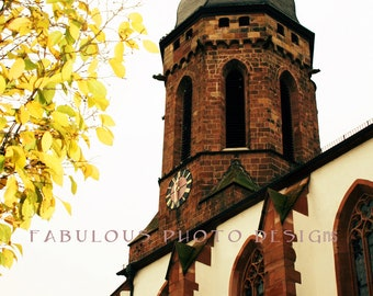 8x12 Fall in Germany  Fine Art Photograph - Travel Photography - German Home Decor