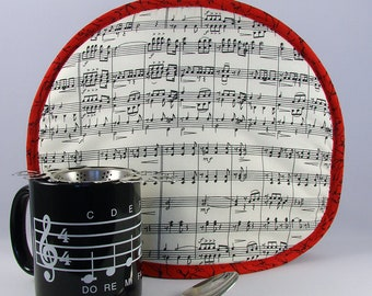 Tea Cozy, Teapot Cover, Coffee Carafe Cozy, Tea Cosy Sheet Music Notes