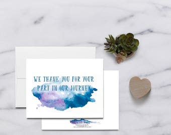 We thank you Infertility IVF Card IVF Cards Infertility Card Infertility Cards Infertility Encouragement Card Infertility Support
