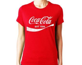 Coca Cola Classic Logo  Woman Printed T-shirt