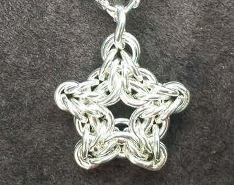 Byzantine Star Chainmail Pendant