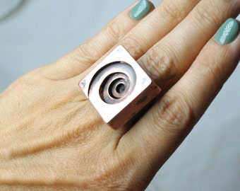 Unique ring Ring spiral Copper jewelry Copper ring for arthritis  Copper ring  Boho style Original gift For her