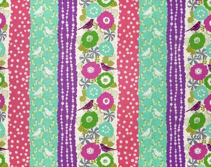 Echino by Etsuko Furuya - Cotton Linen Fabric - Peck EF701-D Purple Teal, select a length