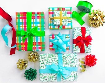 Gift Wrap Option; Traditional Holiday Gift Wrap Option; Pretty Paper with Ribbon and Bow; With or Without a Personal Note