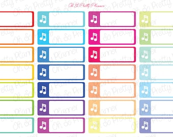 Band, Chorus, Choir, Orchestra Music Stickers for your Erin Condren Life Planner or Happy Planner
