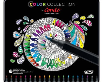 BIC Color Collection by Conte, Felt Pen, 20-Count, Assorted