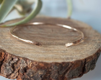 Skinny Gold Cuff - Stackable Bracelet, Dainty Gold Bracelet, Minimalist Bracelet, Everyday Jewelry, Bridal Party Gift, Gift for Her