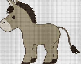 Cute Donkey Cross Stitch Pattern