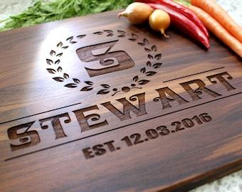 Personalized Cutting Board - Engraved Cutting Board, Custom Cutting Board, Wedding Gift, Housewarming Gift, Anniversary Gift W-006 GB