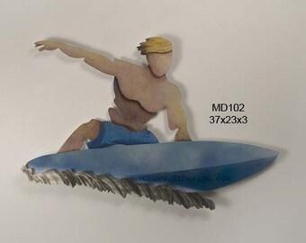 Surfer Dude Wall Sculpture - CA672