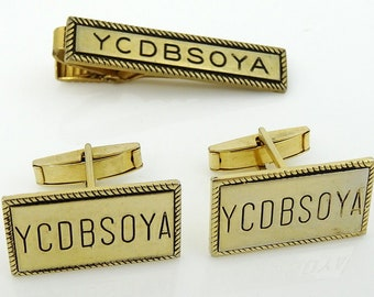 YCDBSOYA Cufflinks Set with Tie Clip Bar Vintage Office Motivational Gift!