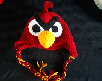 Angry Bird Hat with Ear Flaps