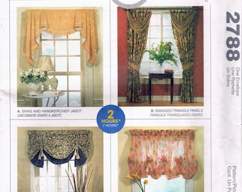 Drapes Sewing Pattern   Valance, Jabbot U0026 Cafe Curtains Patterns   Easy Sewing  Pattern   Home Decor Sewing Pattern   McCalls 2788