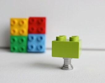 Brick Kids Drawer Knobs - Kids Brick Drawer Knobs in Lime Green (TK03-08)