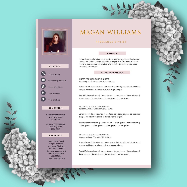 Plantilla de curriculum vitae creativo CV plantilla para MS