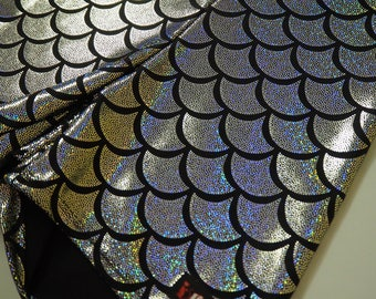 Silver Mermaid Fish Scale Bike Shorts