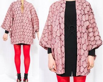 Silk Kimono Jacket / Haori / Japanese Kimono / Silk Robe