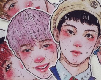 kpop stickers set NCT dream korea k-pop bujo sticker