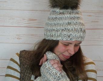 The Allie Hat Faux Fur Pom Beanie