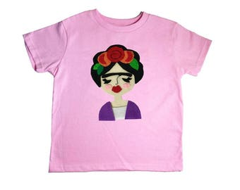 Frida Kids Tee - Light Pink