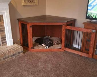 dog crates as furniture. Corner Dog Kennel - #1 In Quality And Customer Service Crates As Furniture