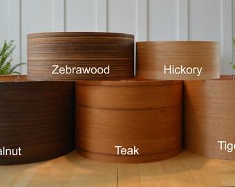 Real Wood Veneer Large Drum Shade