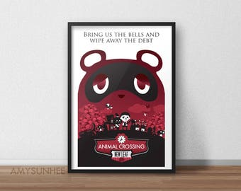 Bring Us the Bells - Animal Crossing + Bioshock Infinite poster/print