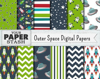 Outer Space Cupcake Wrappers (12)