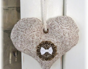 Provence Lavender - Fabric heart to hang