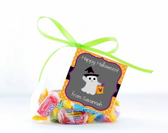 Halloween Treat Tags, Ghost Tag, Personalized Halloween Tags, Halloween Gift Tags, Treat Tags, Trick or Treat Tags, Halloween Printable