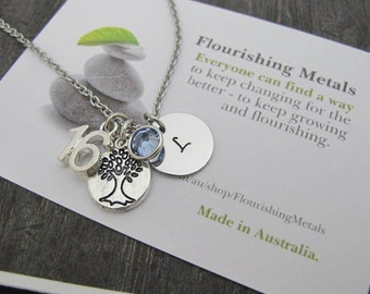For Best friend Gift, 18th Birthday Gift, sweet 16th gift,  21st birthday gift for her, sweet 16 gift, tree of life necklace Gift for women