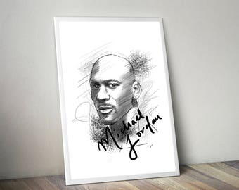 Michael Jordan Gliceé Art/Canvas Print [Limited Edition]
