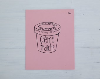 vintage french flash card - creme fraiche
