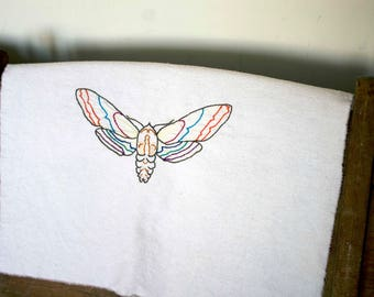 Moth - Hand Embroidered Hoop Wall Art Insects
