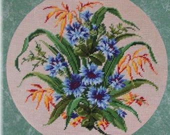 Needlepoint KIT - Cornflowers, Pattern No.105NP