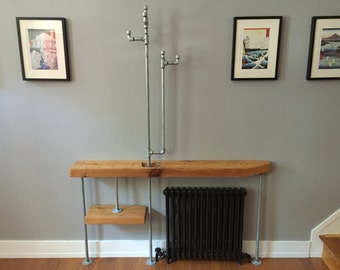 Entryway table and hat rack