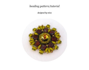 Wezen Pendant - Beading Pattern/Tutorial - PDF file for personal use only