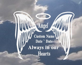 In Loving Memory of (Angel, Always in our Hearts) (Custom Name) #6: Auto, Decal