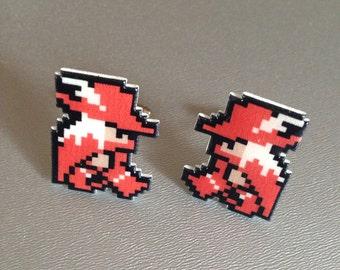 red mage - final fantasy cufflinks
