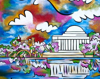 Tidal Basin Bloom 2 - 11x14 matted print by Joel Traylor