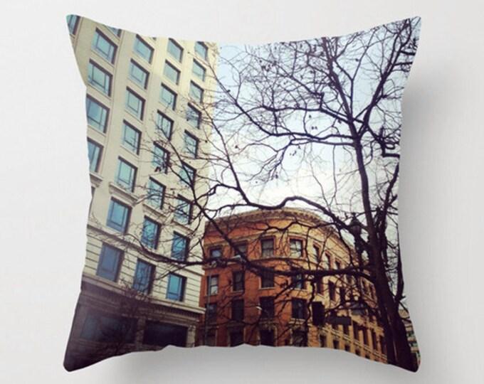 Urban Sofa Pillow, Downtown Accent Pillow, Neutral Accent, Neutral Throw Pillow Cover, 18x18 24x24 Decorative Pillow Cushion Architecture