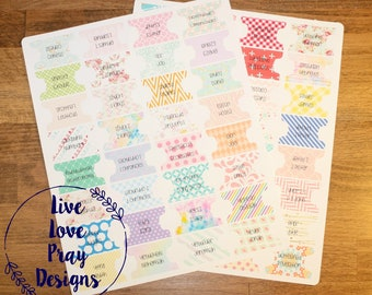 Colorful 1 inch Bible Tabs