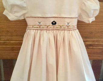 Easter dress with sheeps