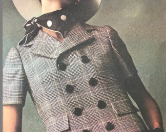 Very Classy Double Breasted Jacket and A-line Skirt Pattern by Designer Laird Knox---Mccalls 1044---Size 12  Bust 34  UNCUT