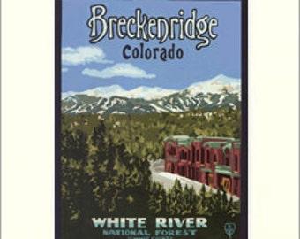 Breckenridge Giclée Art Print: Colorado Series, The Bungalow Craft by Julie Leidel, WPA-Style Poster Art, Arts & Crafts Movement