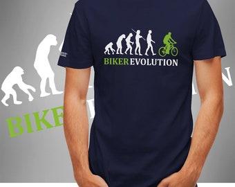 Biker Evolution-Men's T-shirt Navy