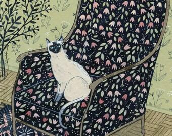 Siamese Cat (print)