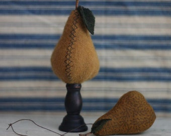 for the love of pears pinkeep and ornament pattern